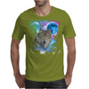 Grey Wolf MidNight Forest Mens T-Shirt