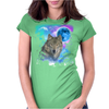 Grey Wolf MidNight Forest Womens Fitted T-Shirt