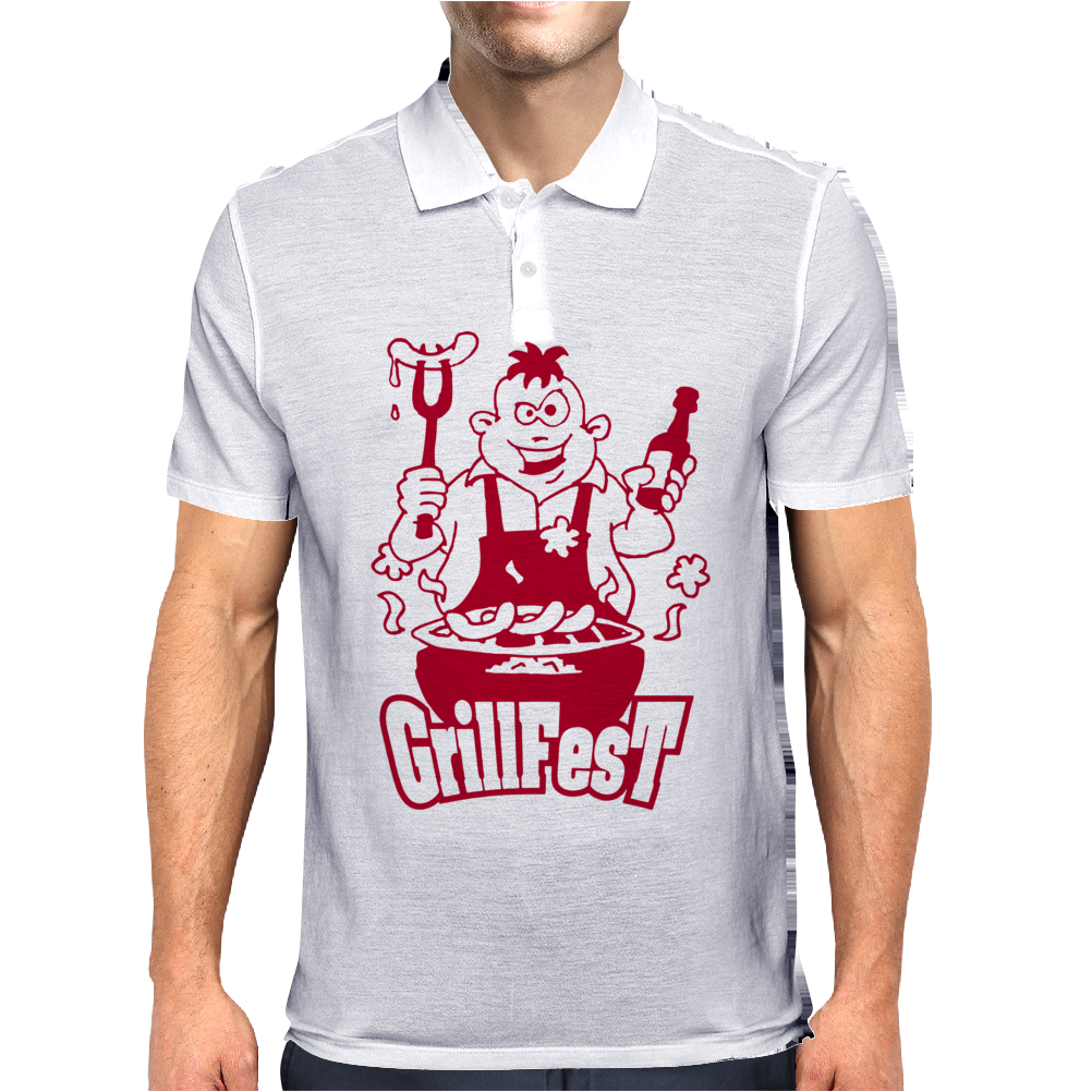 Gril lFest Bbq Mens Polo