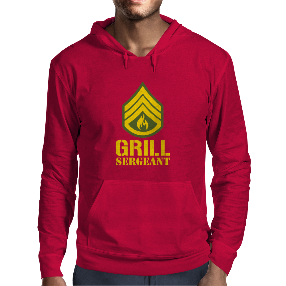 Grill Sergeant Military Mens Hoodie