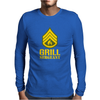 Grill Sergeant Military Mens Long Sleeve T-Shirt