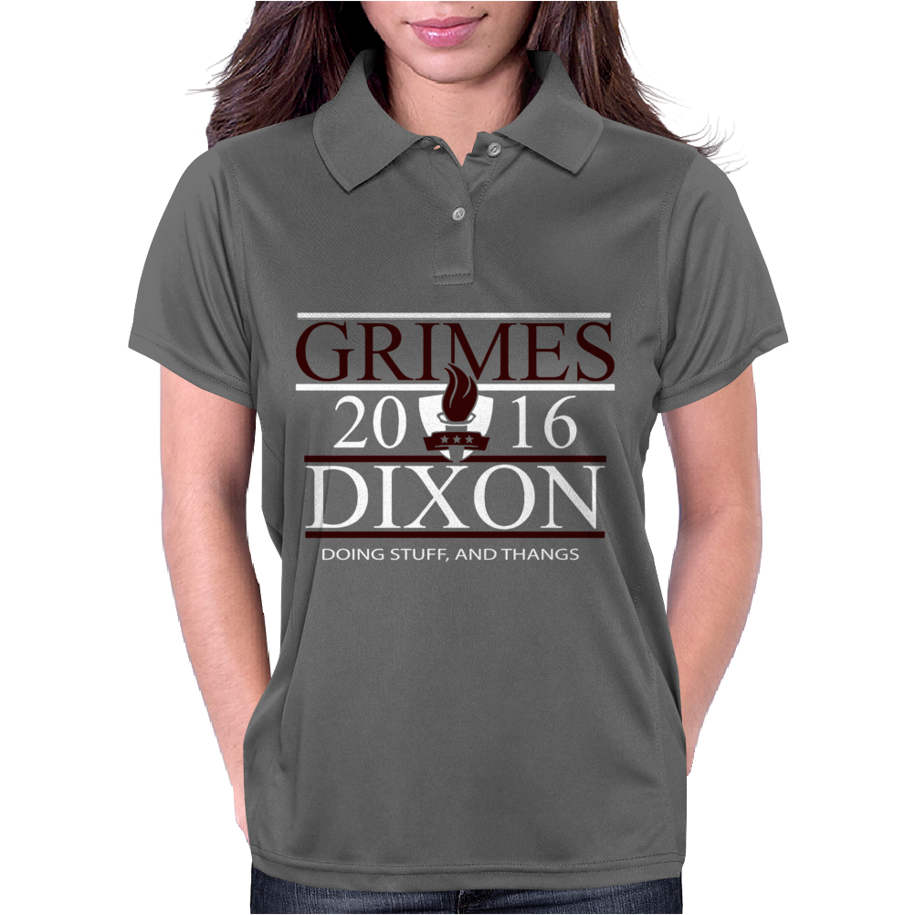 Grimes For President Walking Dead Dixon 2016 Womens Polo