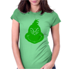 Grinch Smiley Womens Fitted T-Shirt