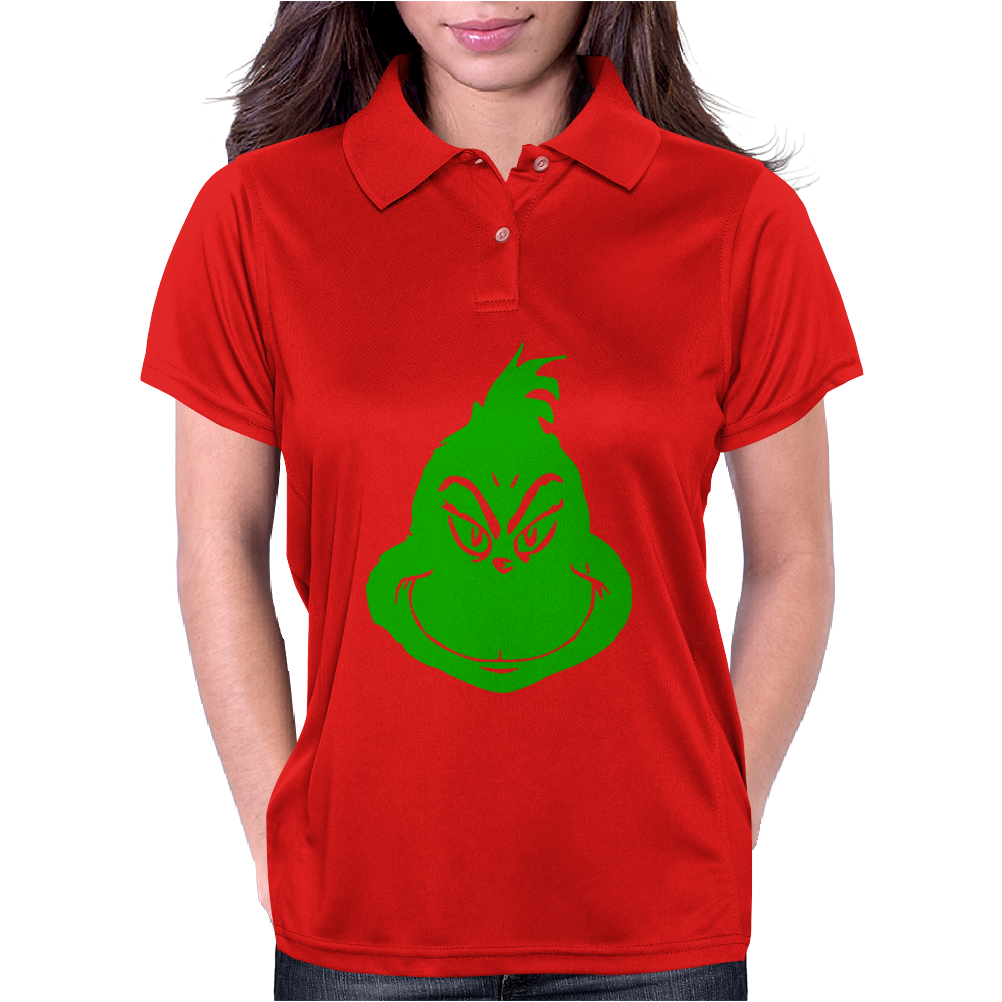 Grinch Smiley Womens Polo