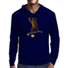 Grizzly on Longboard - Chief on Board Mens Hoodie
