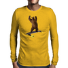 Grizzly on Longboard - Chief on Board Mens Long Sleeve T-Shirt