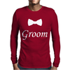 Groom Bow Tie, Wedding Mens Long Sleeve T-Shirt