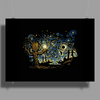 groot Starry night abstrac Poster Print (Landscape)