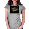 groot Starry night abstrac Womens Fitted T-Shirt