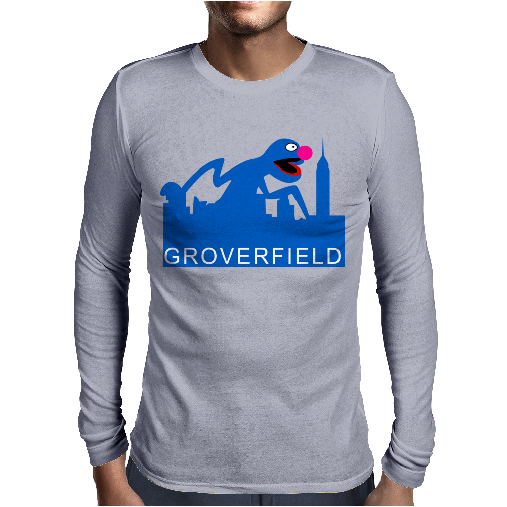 Grover Joke Cloverfield Mens Long Sleeve T-Shirt