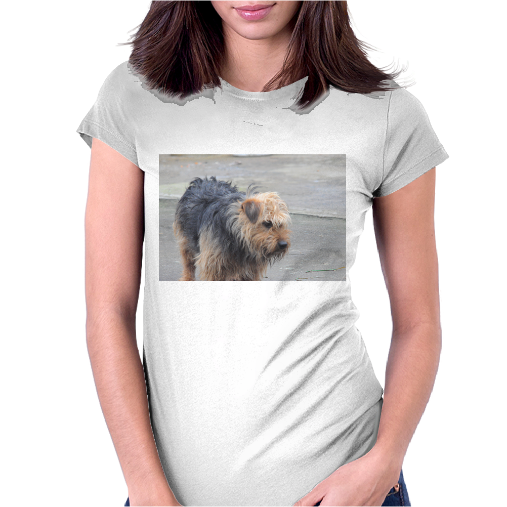 Grump Dog Womens Fitted T-Shirt