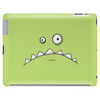 Grumpy Green Monster Cartoon Tablet (horizontal)