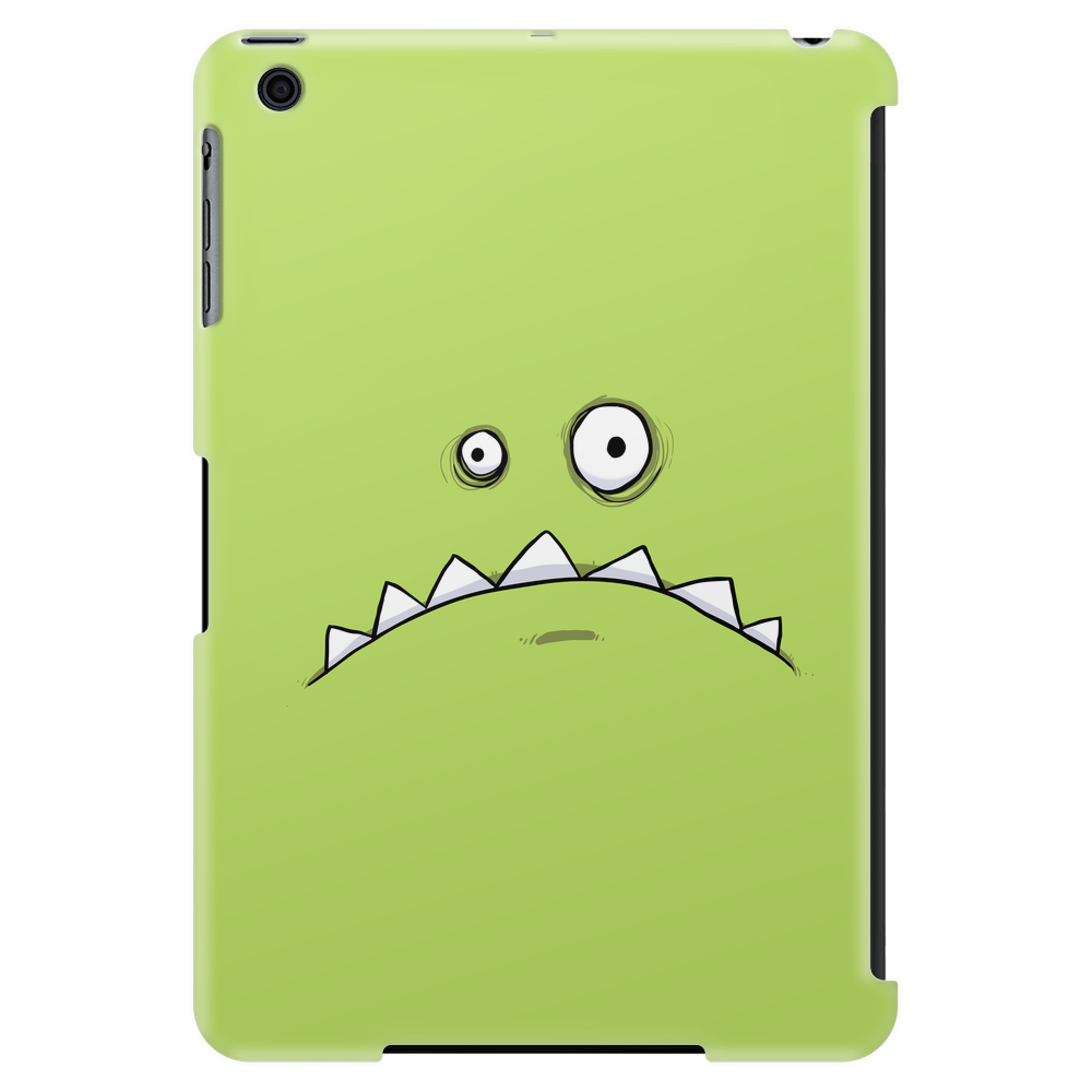 Grumpy Green Monster Cartoon Tablet (vertical)