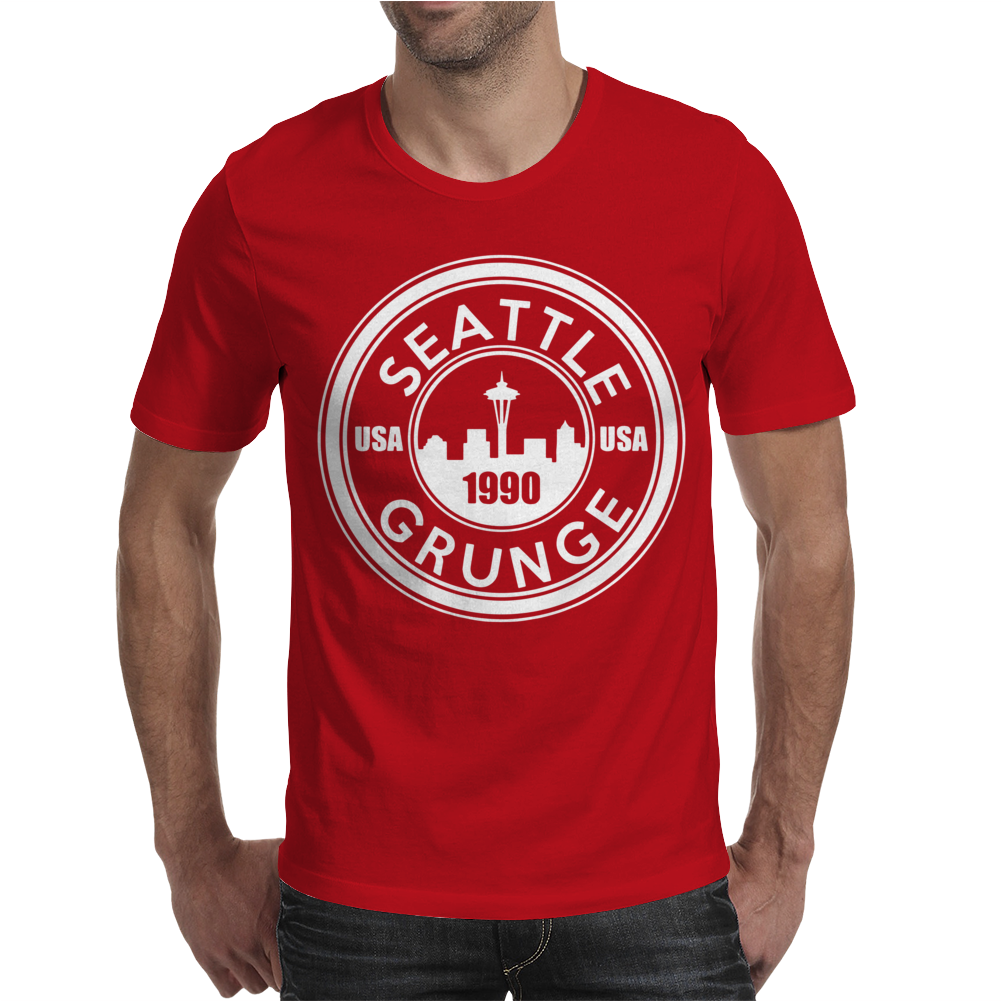 Grunge Seattle 1990 Mens T-Shirt