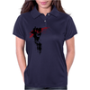 Grunge Trash Polka Skull Womens Polo