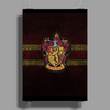Gryffindor Knitted Poster Print (Portrait)