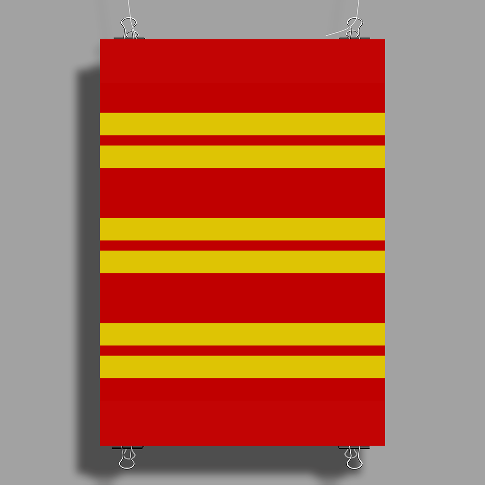 Gryffindor Stripes - Thick Poster Print (Portrait)
