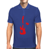 Guitar Puzzle Mens Polo