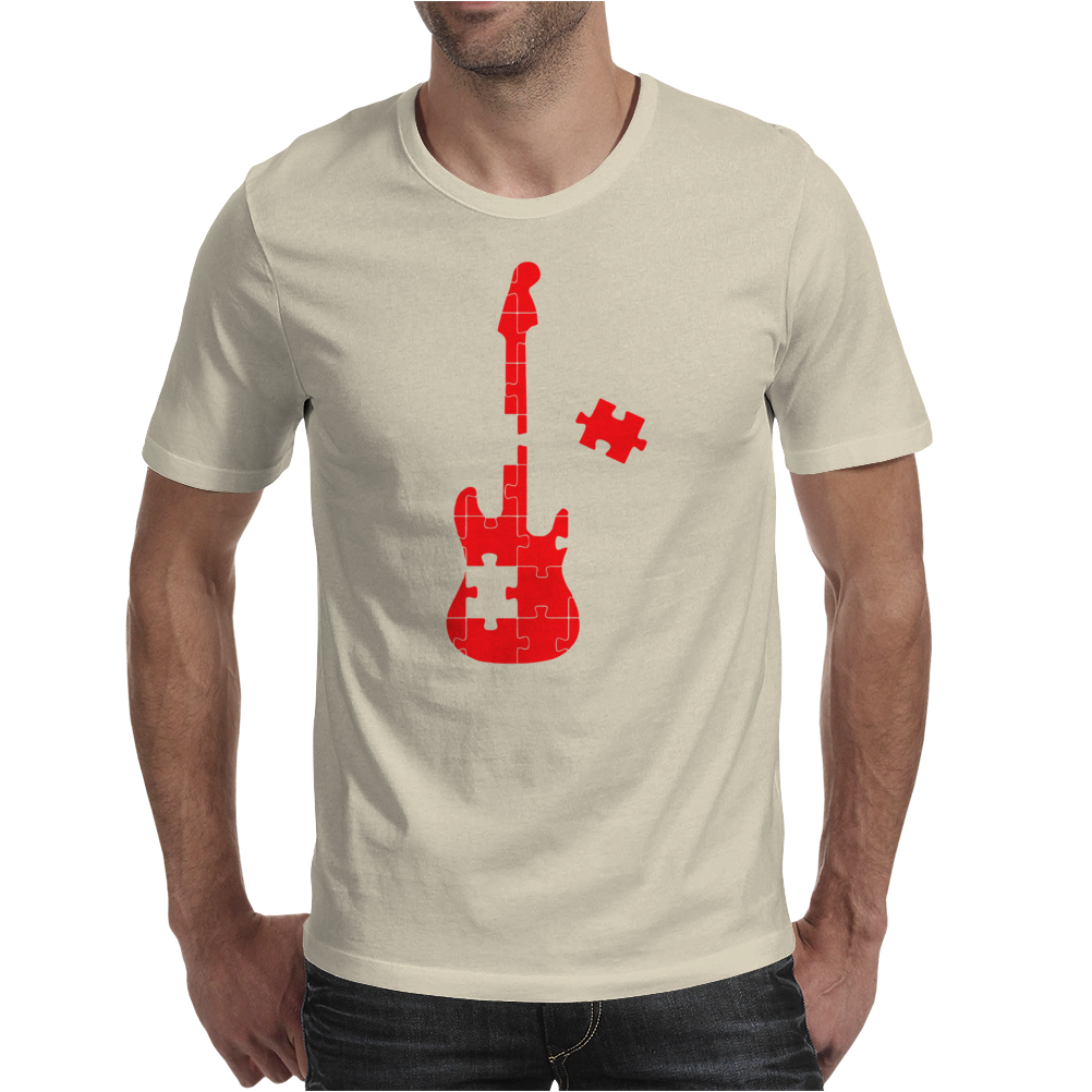 Guitar Puzzle Mens T-Shirt