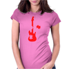 Guitar Puzzle Womens Fitted T-Shirt