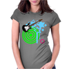 Guitar Retro Music Womens Fitted T-Shirt
