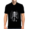 Guitar Skeleton Microphone Rock Music Lovers Mens Polo