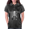 Guitar Skeleton Microphone Rock Music Lovers Womens Polo