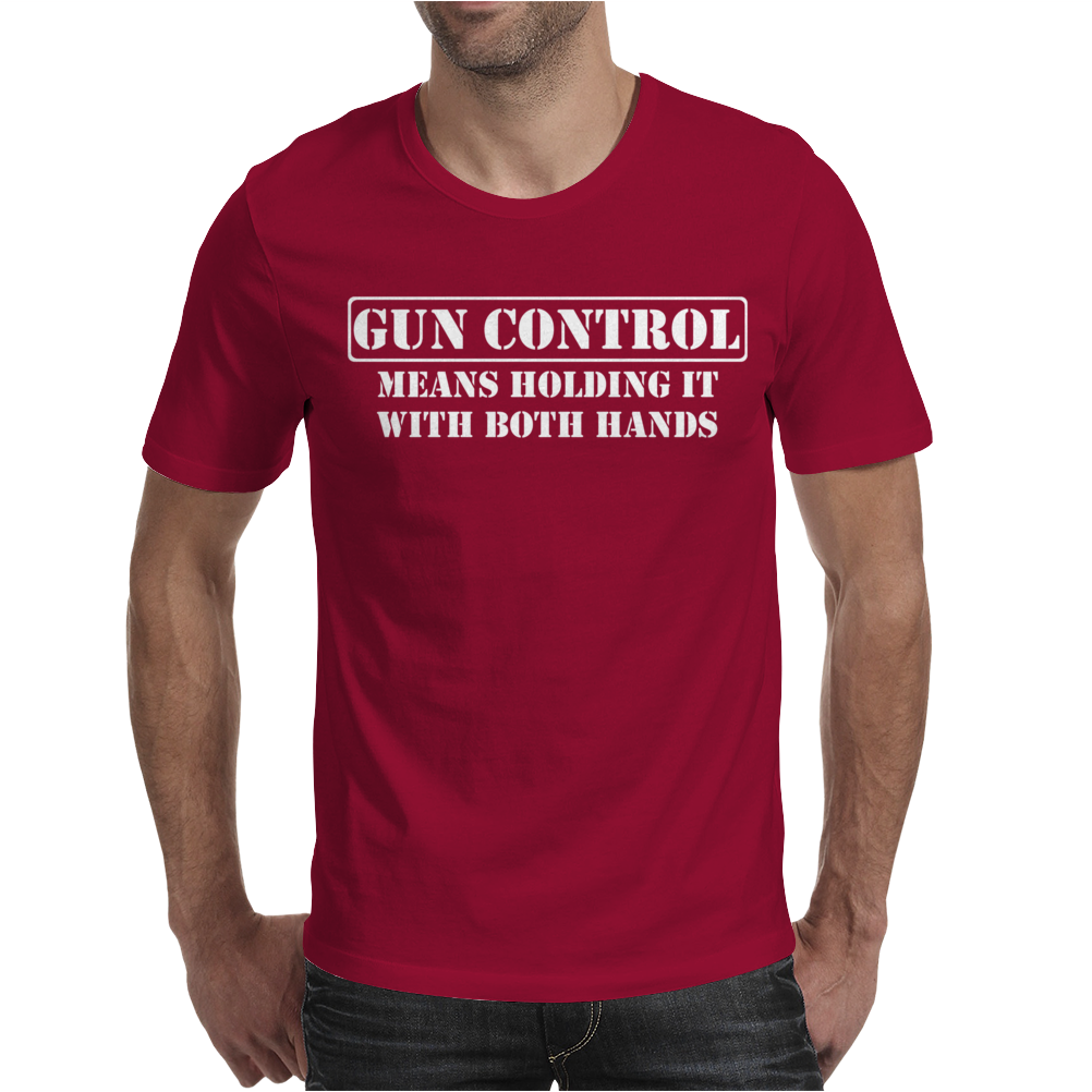 Gun Control- Gun Rights Second Amendment 2nd Firearm Bear Arms Mens T-Shirt