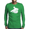 Gun Hands White Gloves Cartoon Mickey Hands Mens Long Sleeve T-Shirt