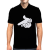 Gun Hands White Gloves Cartoon Mickey Hands Mens Polo