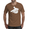 Gun Hands White Gloves Cartoon Mickey Hands Mens T-Shirt