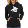 Gun Hands White Gloves Cartoon Mickey Hands Womens Hoodie