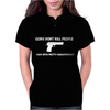 GUNS DON'T KILL PEOPLE DADS Womens Polo