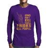 Guns Dont Kill People Ewoks Kill People Funny Mens Long Sleeve T-Shirt