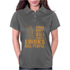 Guns Dont Kill People Ewoks Kill People Funny Womens Polo