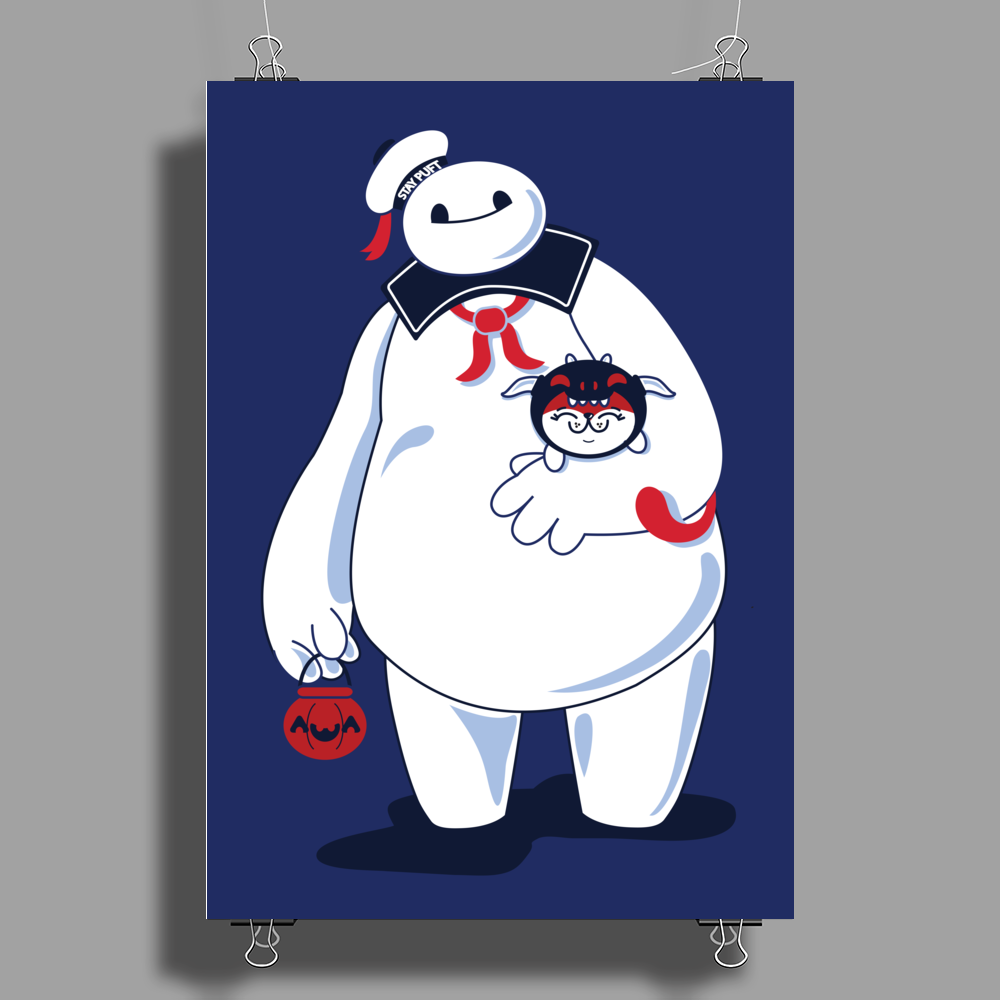 Hairy Baby's Purrrfect Halloween Poster Print (Portrait)