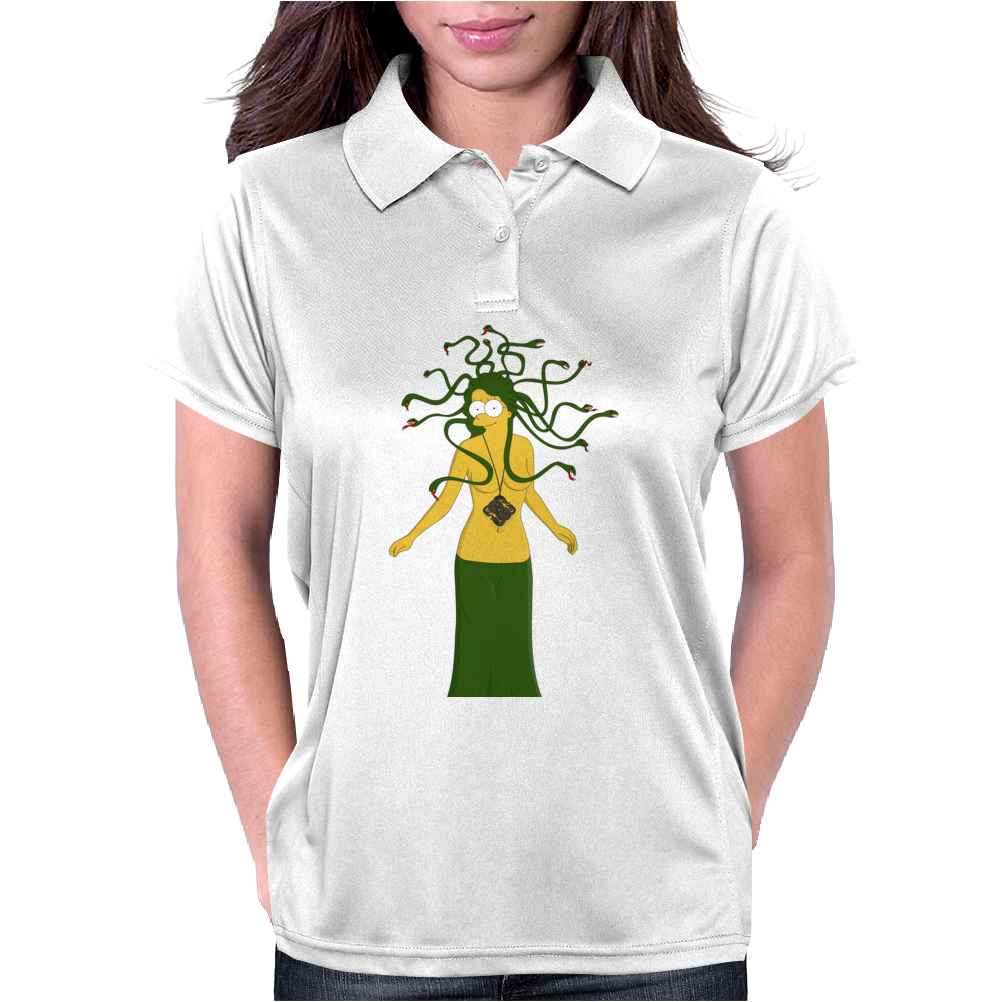 Halloween Medusa meets Simpsons style! Womens Polo