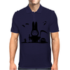 Halloween Rabbit Bat Mens Polo
