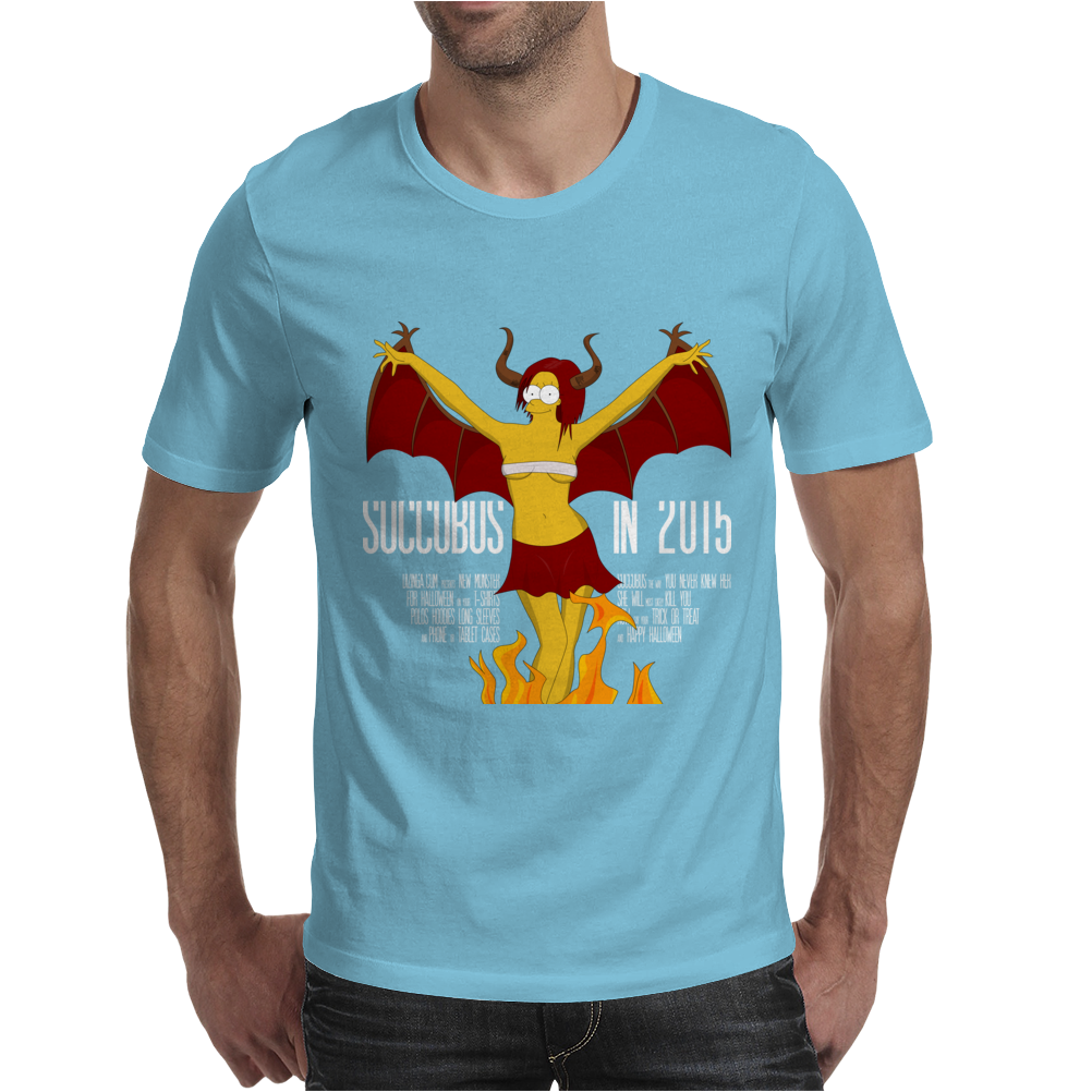 Halloween Succubus Meets Simpsons Style! Mens T-Shirt