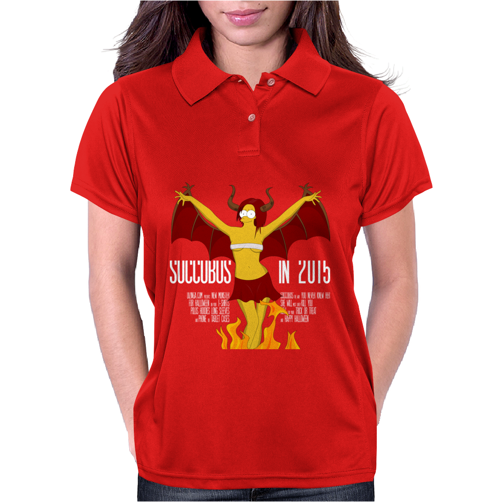 Halloween Succubus Meets Simpsons Style! Womens Polo