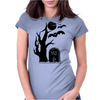 Halloween Tombstone Womens Fitted T-Shirt