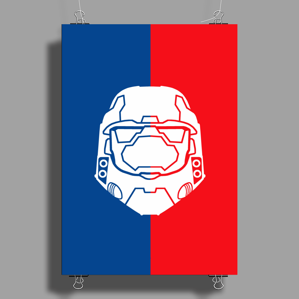 Halo Master Chief (Poster and case Edition) Poster Print (Portrait)