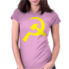 Hammer & Sickle Communist Womens Fitted T-Shirt
