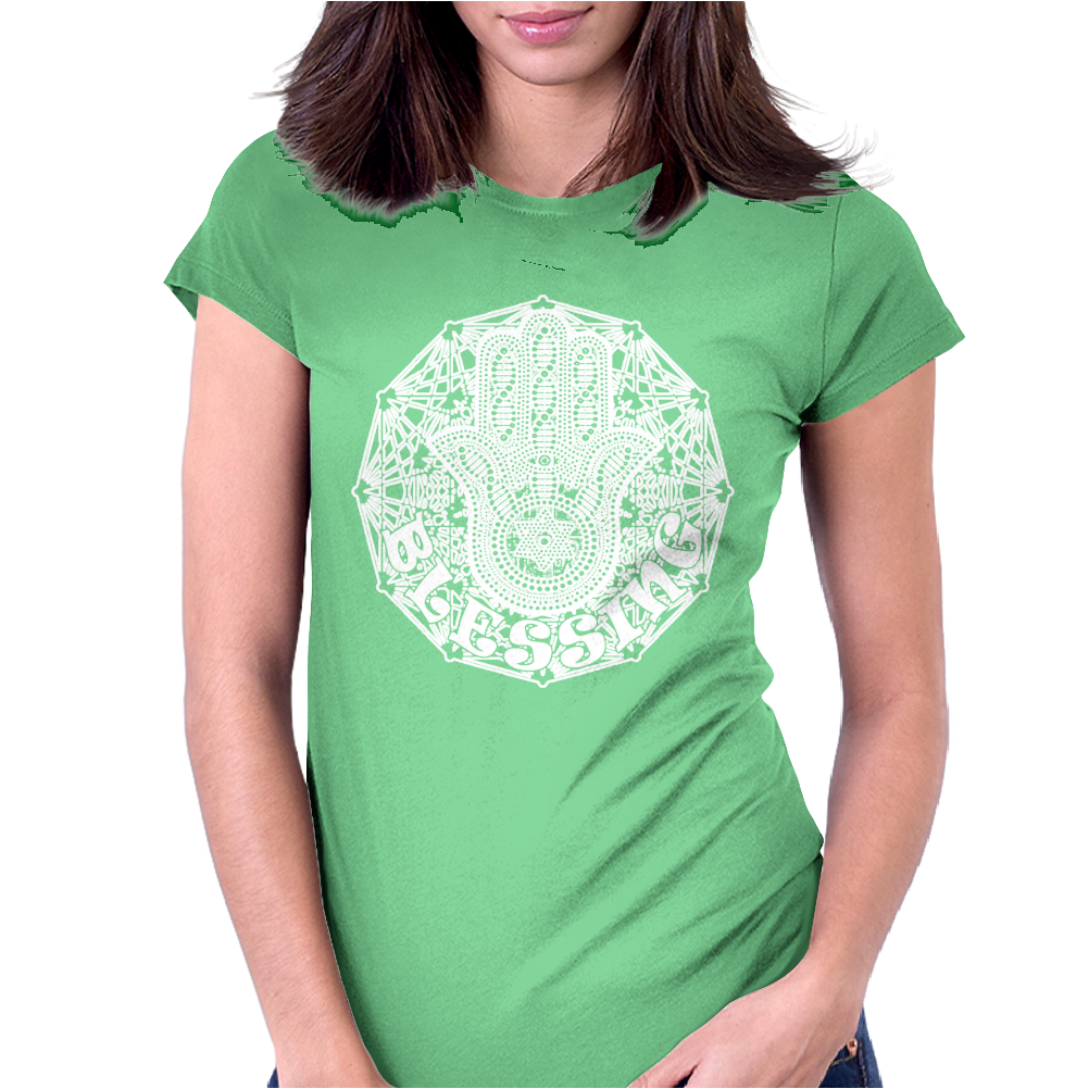 Hamsa Blessing Womens Fitted T-Shirt
