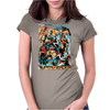 HANNA-BARBERA SUPER HEROES OLD Womens Fitted T-Shirt