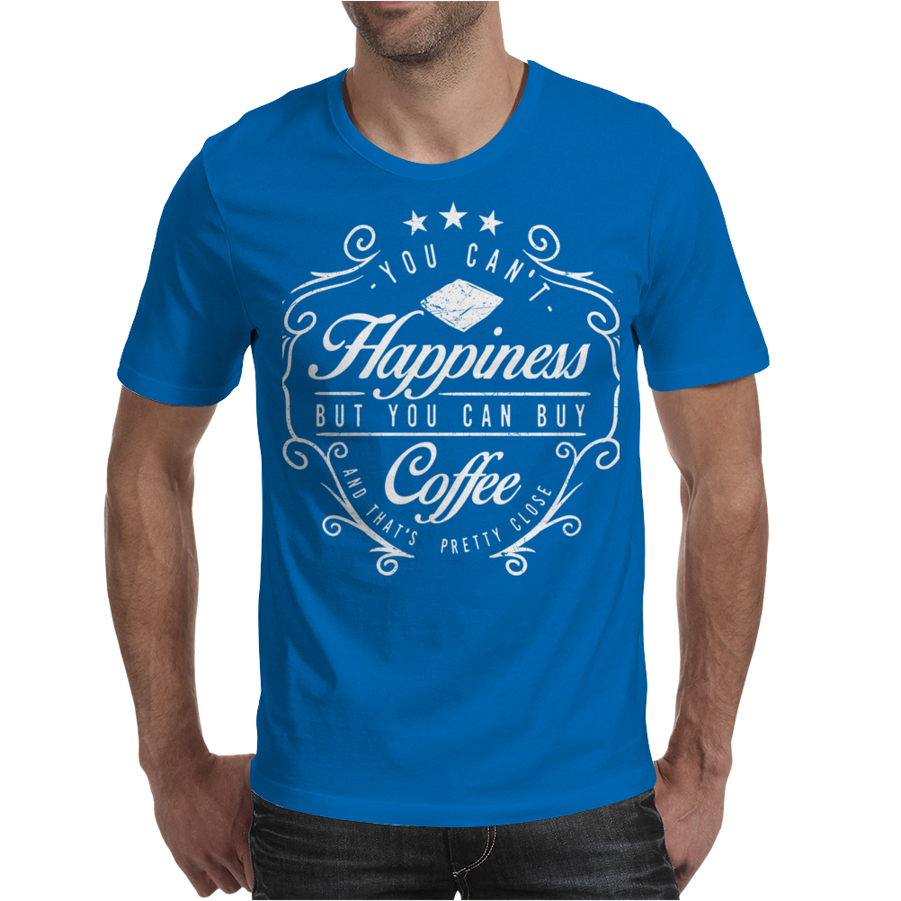 Happiness Coffee Mens T-Shirt