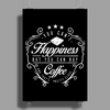 Happiness Coffee Poster Print (Portrait)