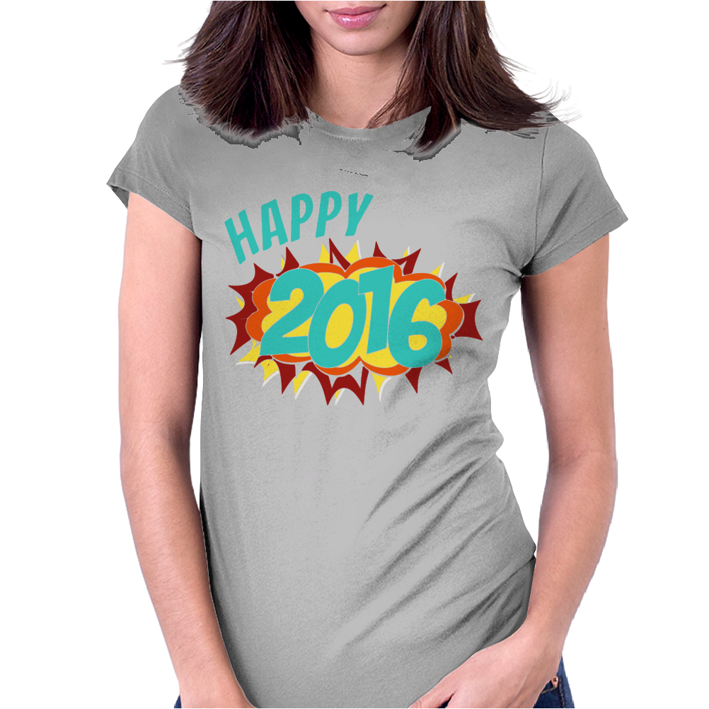 Happy 2016 New Year Womens Fitted T-Shirt