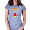 Happy Birthday Make A Wish Blow Womens Fitted T-Shirt
