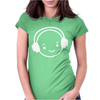 Happy Face Dj Womens Fitted T-Shirt